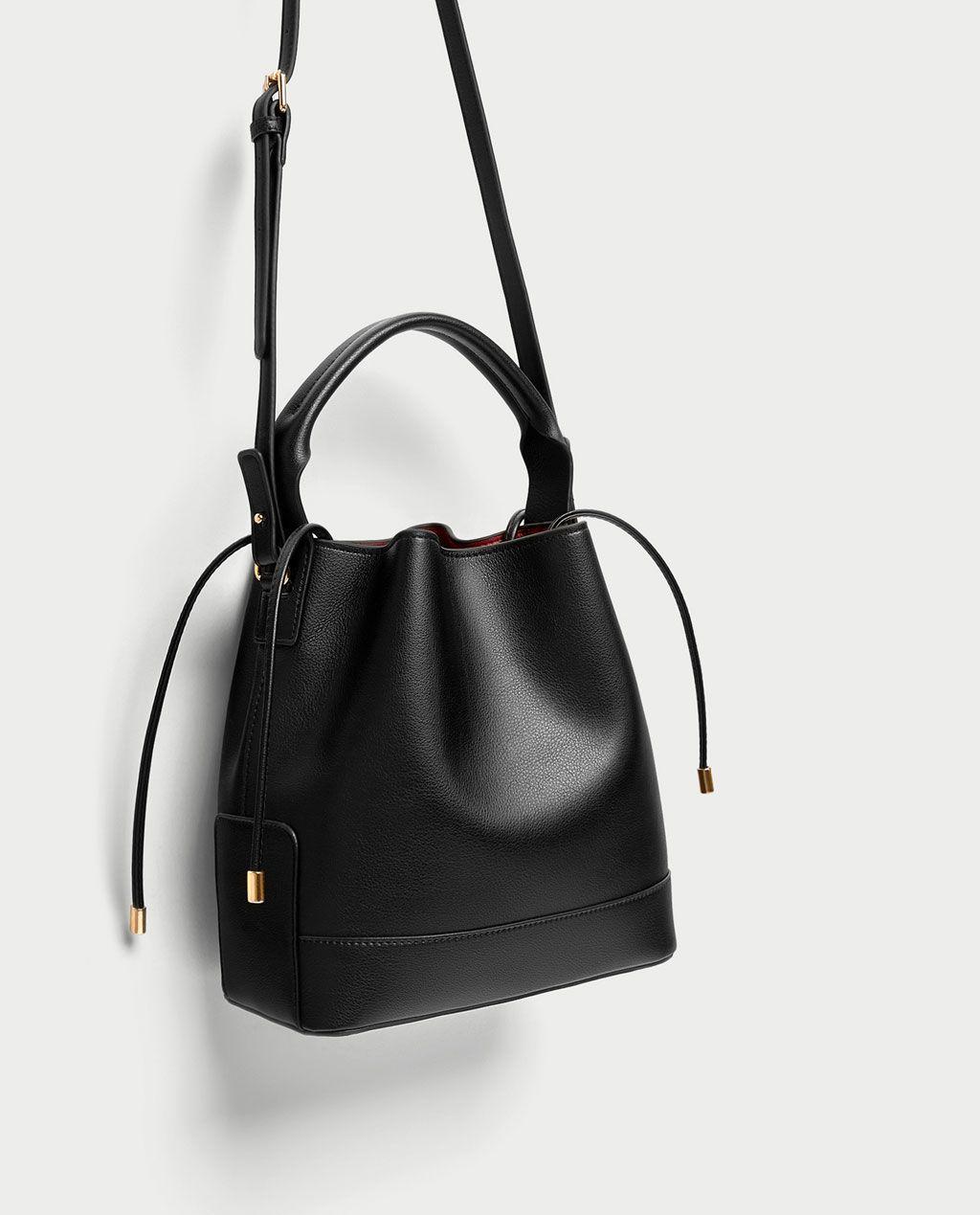 sac seau de taille moyenne tout voir sacs femme zara. Black Bedroom Furniture Sets. Home Design Ideas