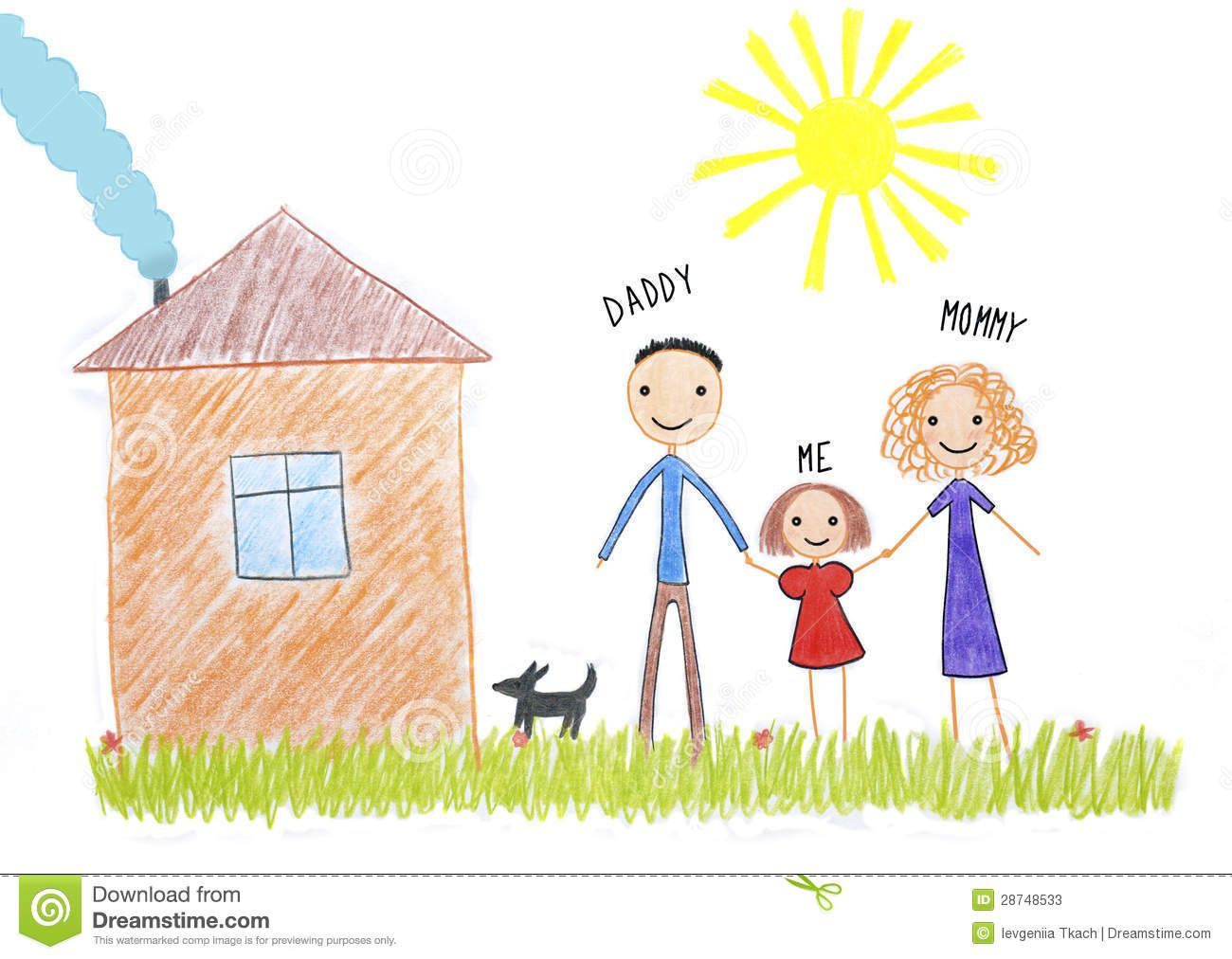 Kid family drawing google search family portrait drawing competition pinterest kid draw - Houses for families withchild ...