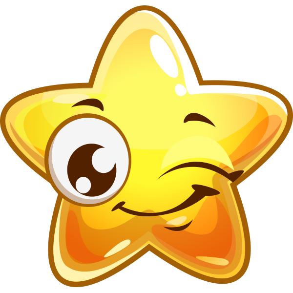 Winking Star Facebook Symbols Miscellaneous Cool Pinterest