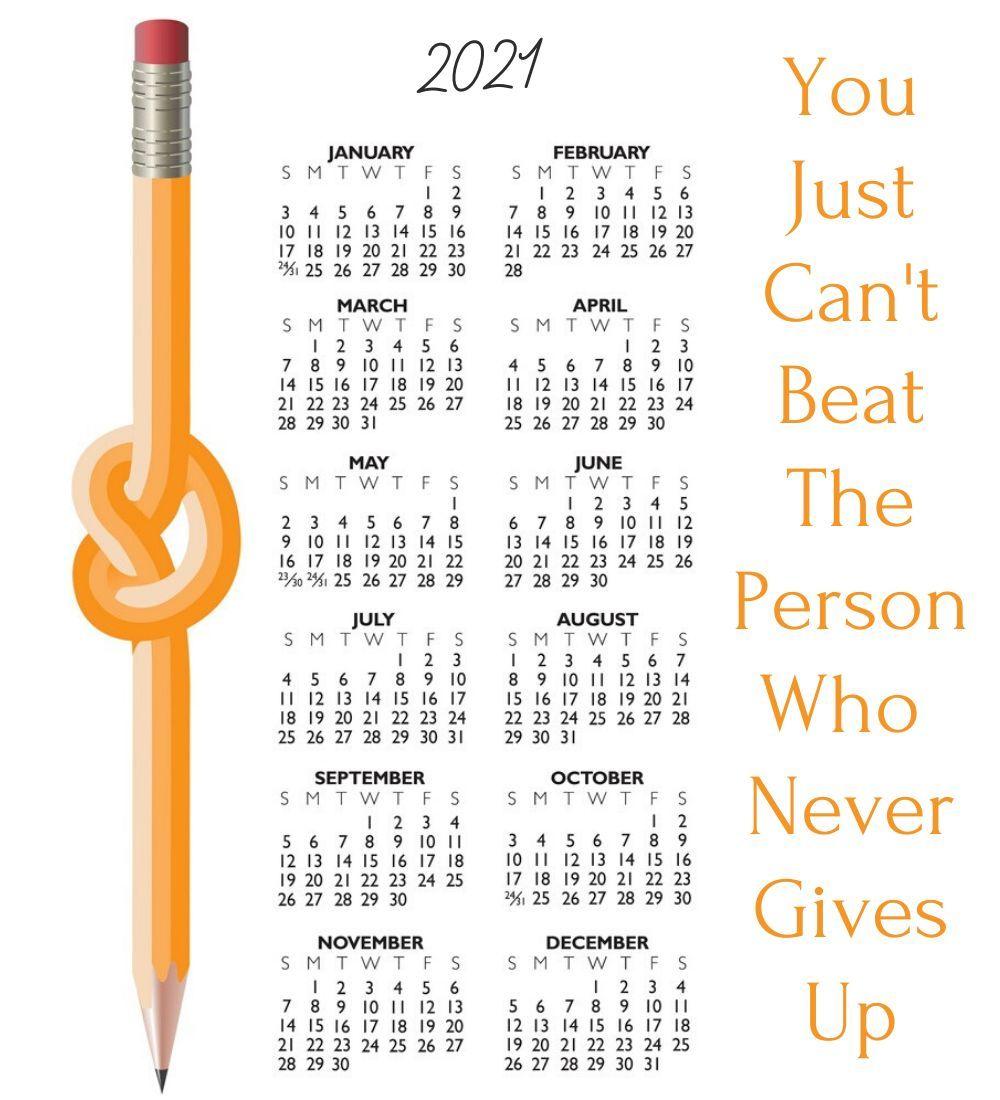 Motivational 2021 Calendar in 2020 | 2021 calendar ...