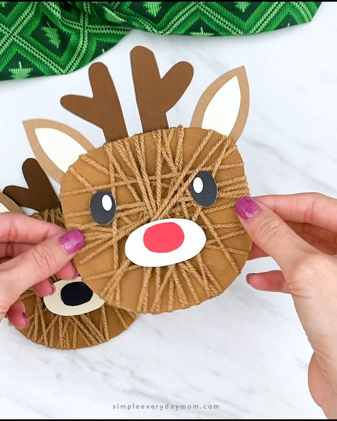 Photo of Yarn Wrapped Reindeer Craft For Kids