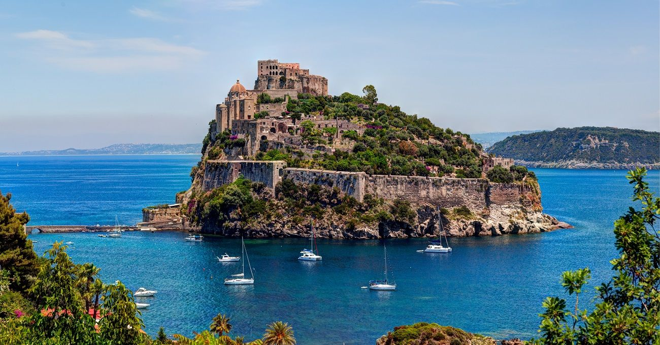 Beautiful island near Sicily during a yacht cruise in