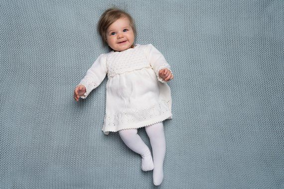 Dress For Girls Baby Baptism Dress Baby Girl Clothes Knitted