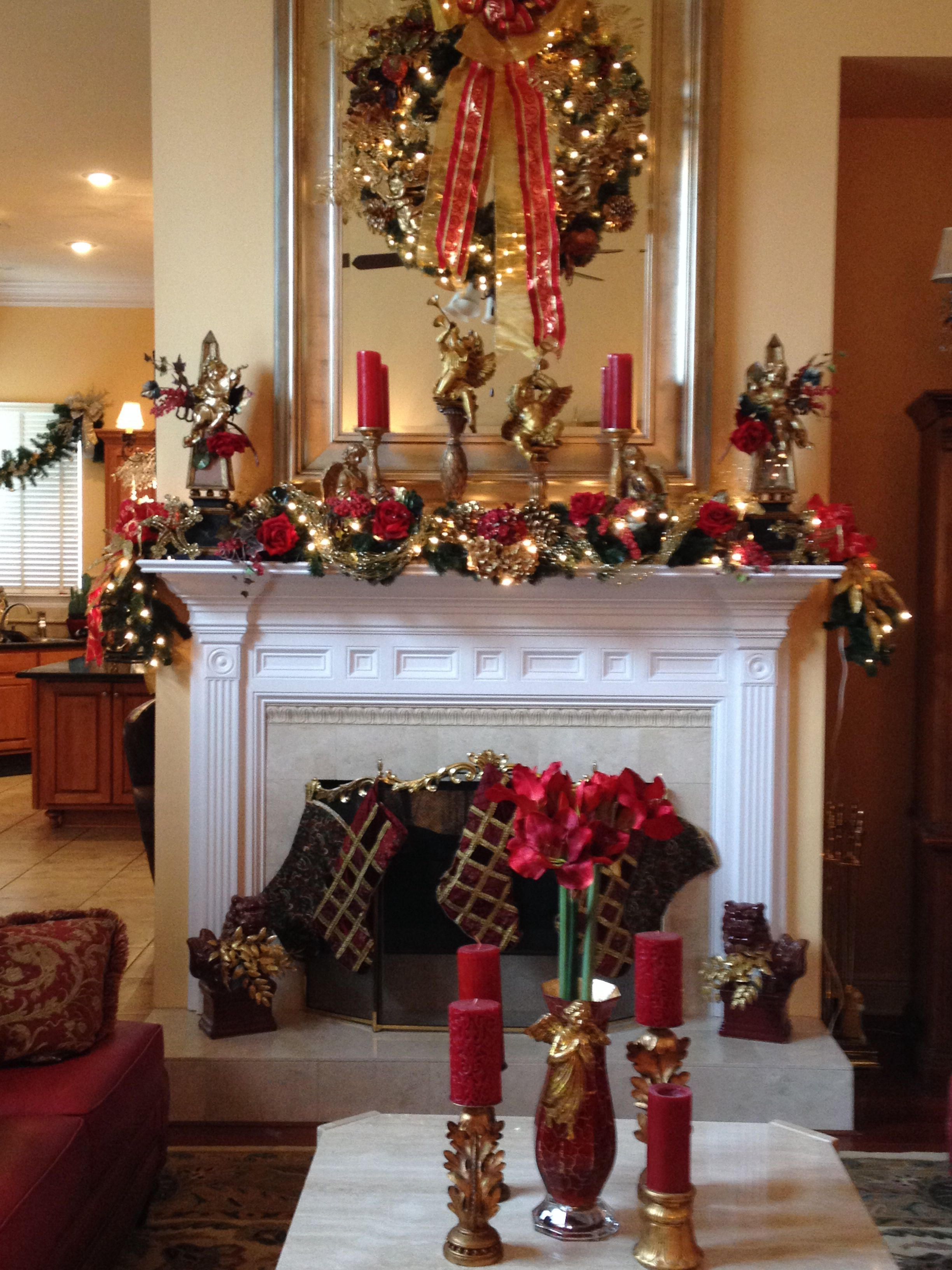 Christmas Mantle Decor Fireplace
