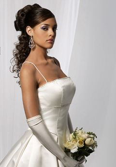 wedding hair black