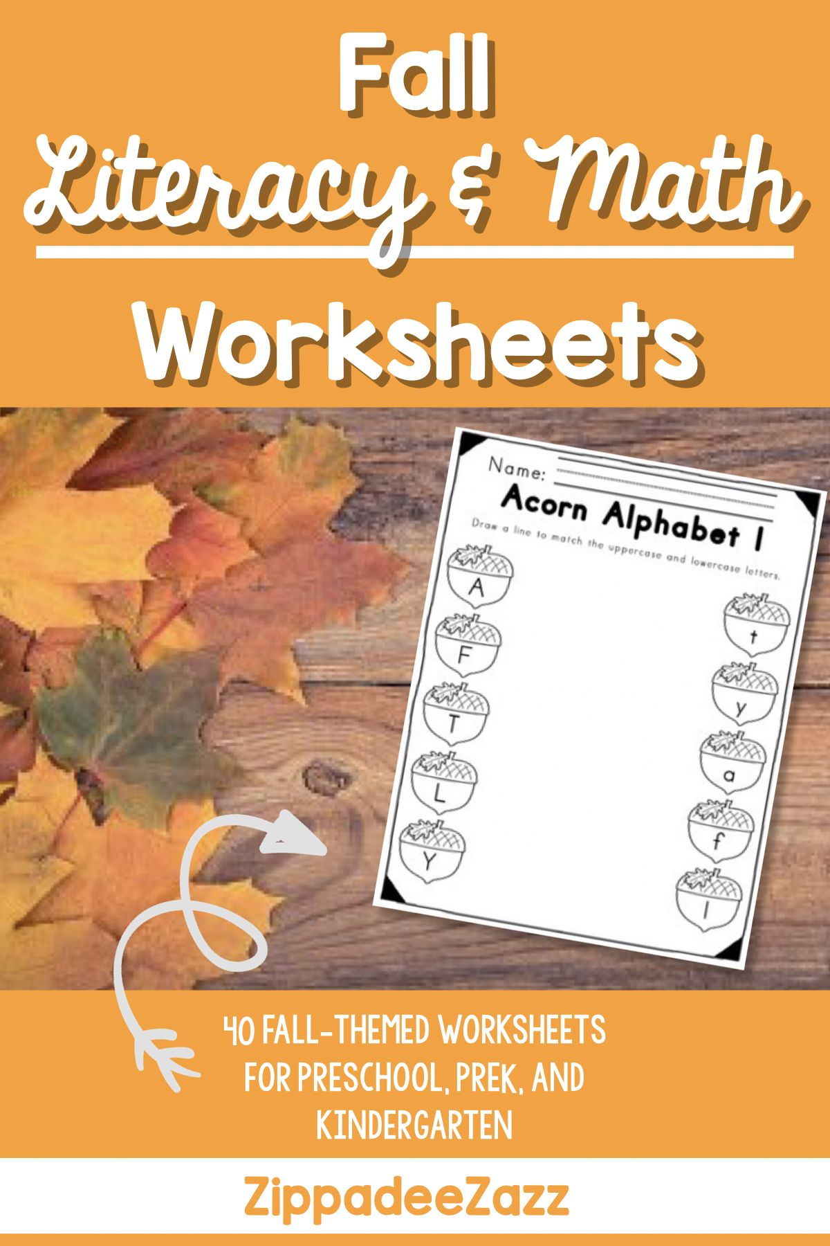 Worksheets For Fall Ela Literacy And Math Activities With