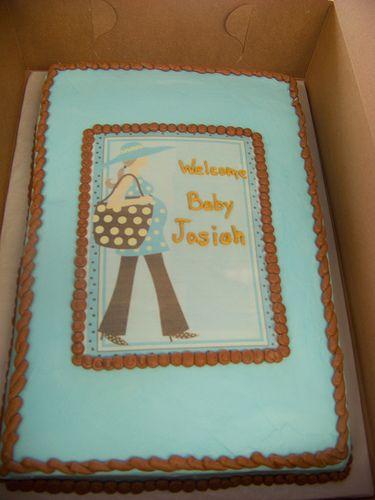 http://cakedecoratingcoursesonline.com/cake-decorating/ Modern Mom Baby Shower Cake. #Create Your Own #Baby #Shower #Cake - Learn Amazing #Cakes #Design Creating on http://CakeDecoratingCoursesOnline.com and Make Your Dream Baby #Shower Cake Yourself