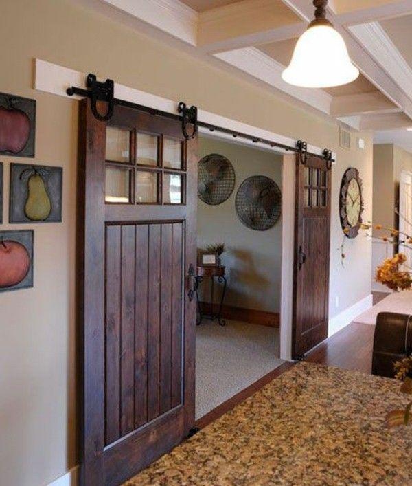 bois rétro chic des portes coulissantes et du0027impressionnantes portes - decoration portes d interieur