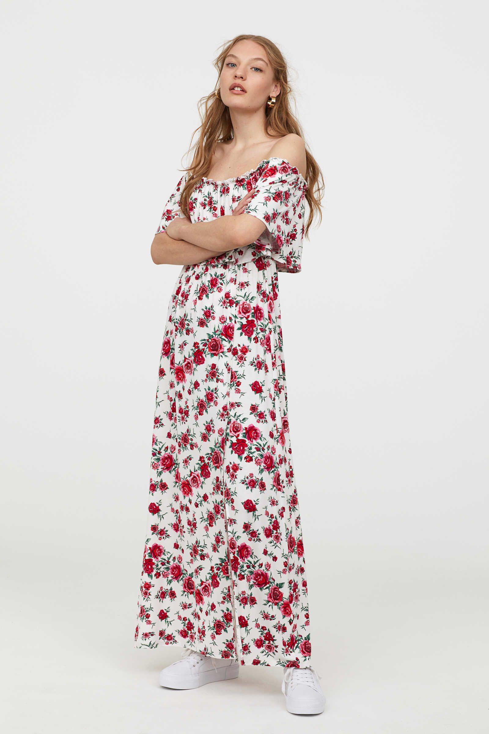 h&m kleid in boho look | sommer kleider, urlaubskleidung