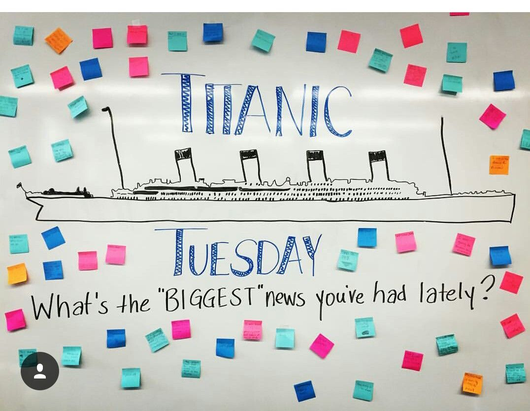 Titanic Tuesday Morning Message