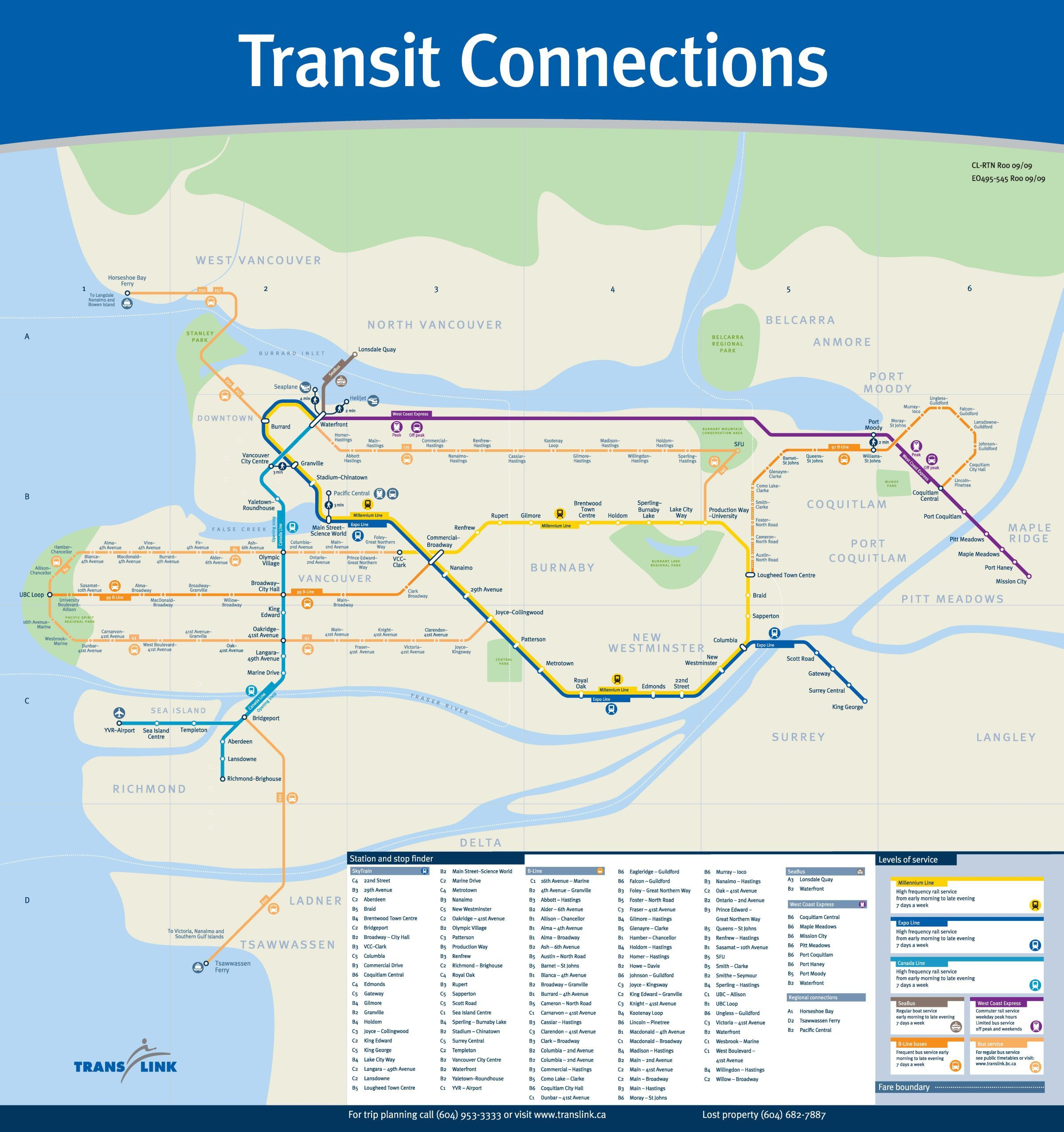 Vancouver Transit Map Wunderlust Vancouver Map Map