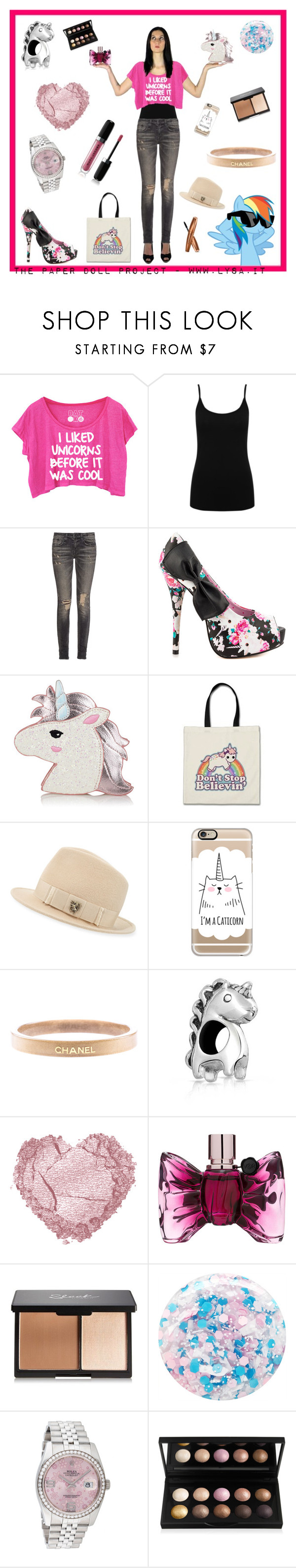 """The Paper Doll Project - Unicorn"" by lysa206 on Polyvore featuring moda, M&Co, R13, Iron Fist, Philip Treacy, Casetify, Chanel, Bling Jewelry, Viktor & Rolf e Nails Inc."