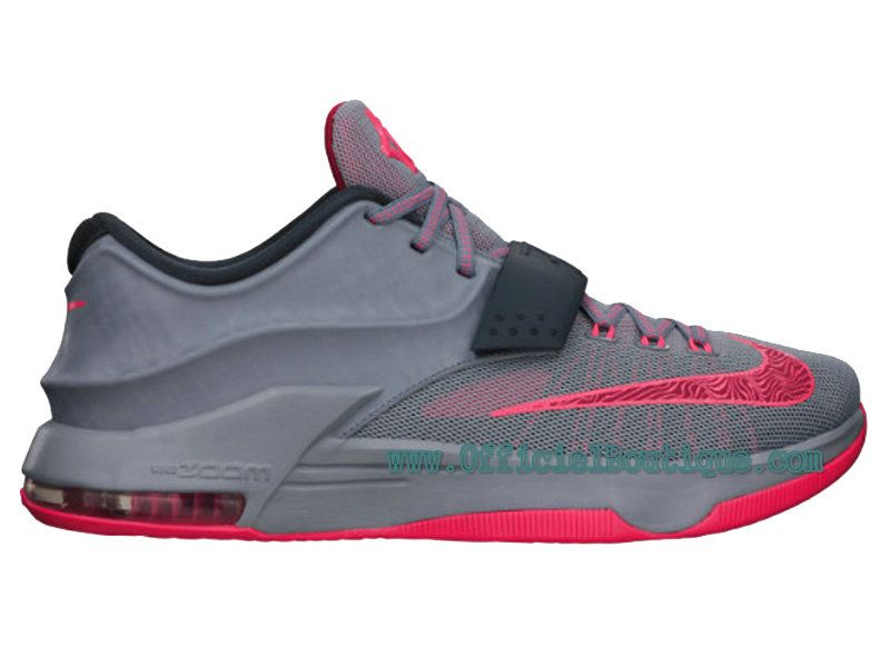 the best attitude 27d29 36ee8 Chaussures Nike BasketBall Pas Cher Pour Homme Nike KD VII 7 Gris Hyper  Punch-Light Magnet Gris 653996-060