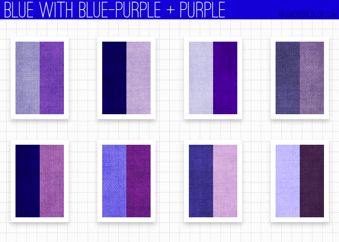 Using Blue Blue Purple And Purple Palettes Et M Langes