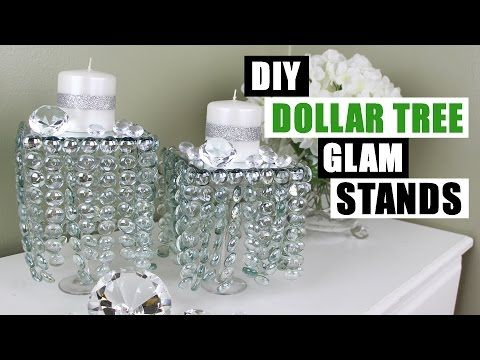 b890d9a3637 DIY DOLLAR TREE GLAM DECOR STANDS Dollar Store DIY Candle Holders Bling  Candles DIY Glam Room Decor - YouTube