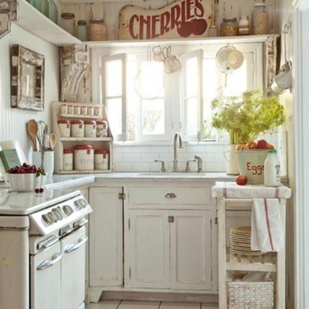 cucina piccola country bianca - Arredamento Shabby | Arredamenti ...