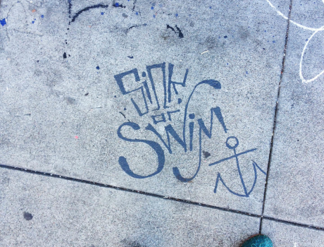 Sidewalk art in SF got Tara to contemplate life for a moment.