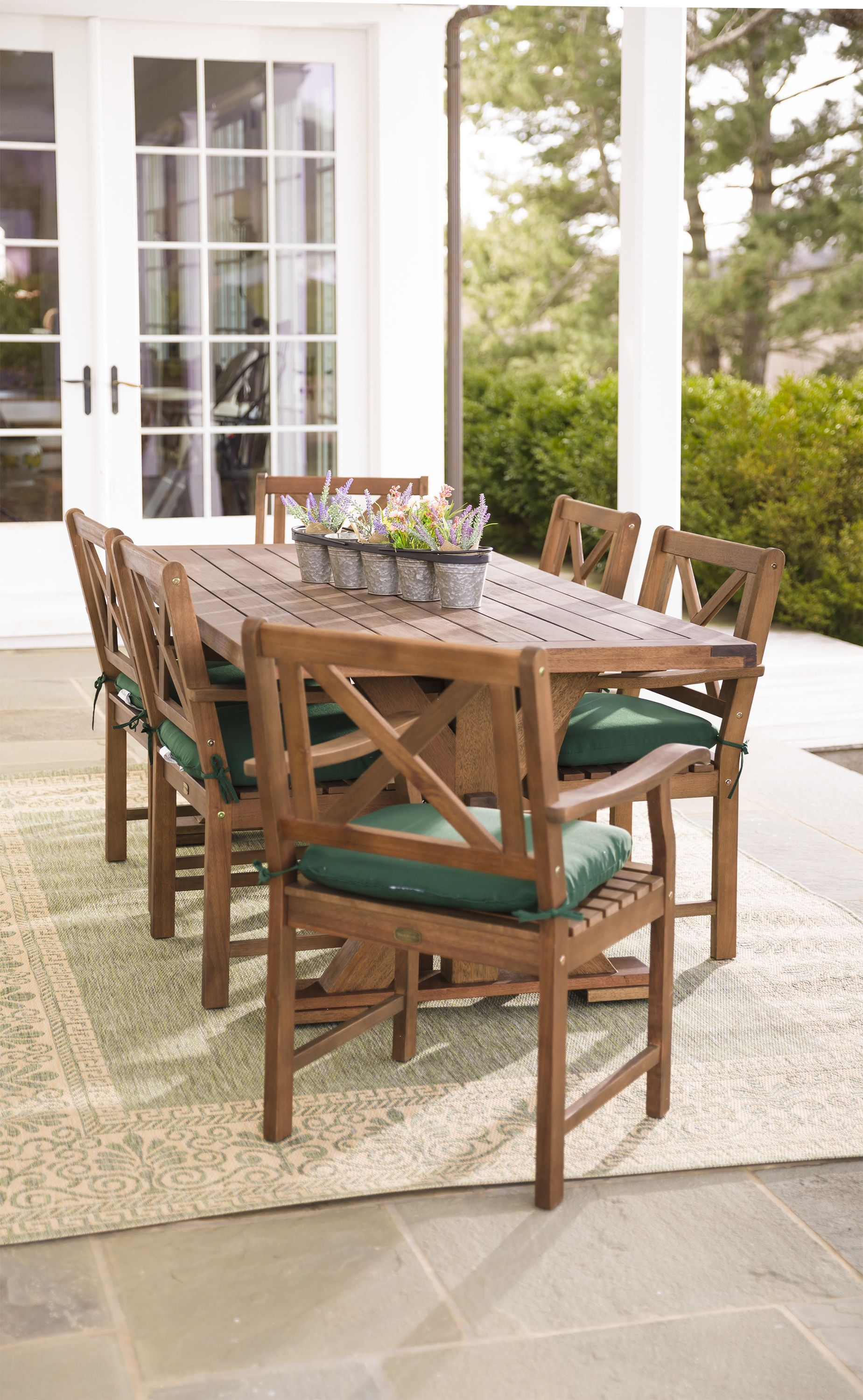 Claremont outdoor dining furniture elevates your outdoor entertaining space made of fsc certified eucalyptus grandis sustainable and sturdy with a bonus