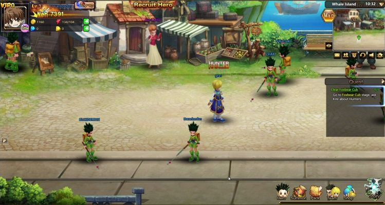 Hunter X Online Is A Free To Play Browser Based Role Playing Multiplayer Game Mmorpg Based On The Manga Series Hunter X Hunt Mmo Games Multiplayer Games Hunter