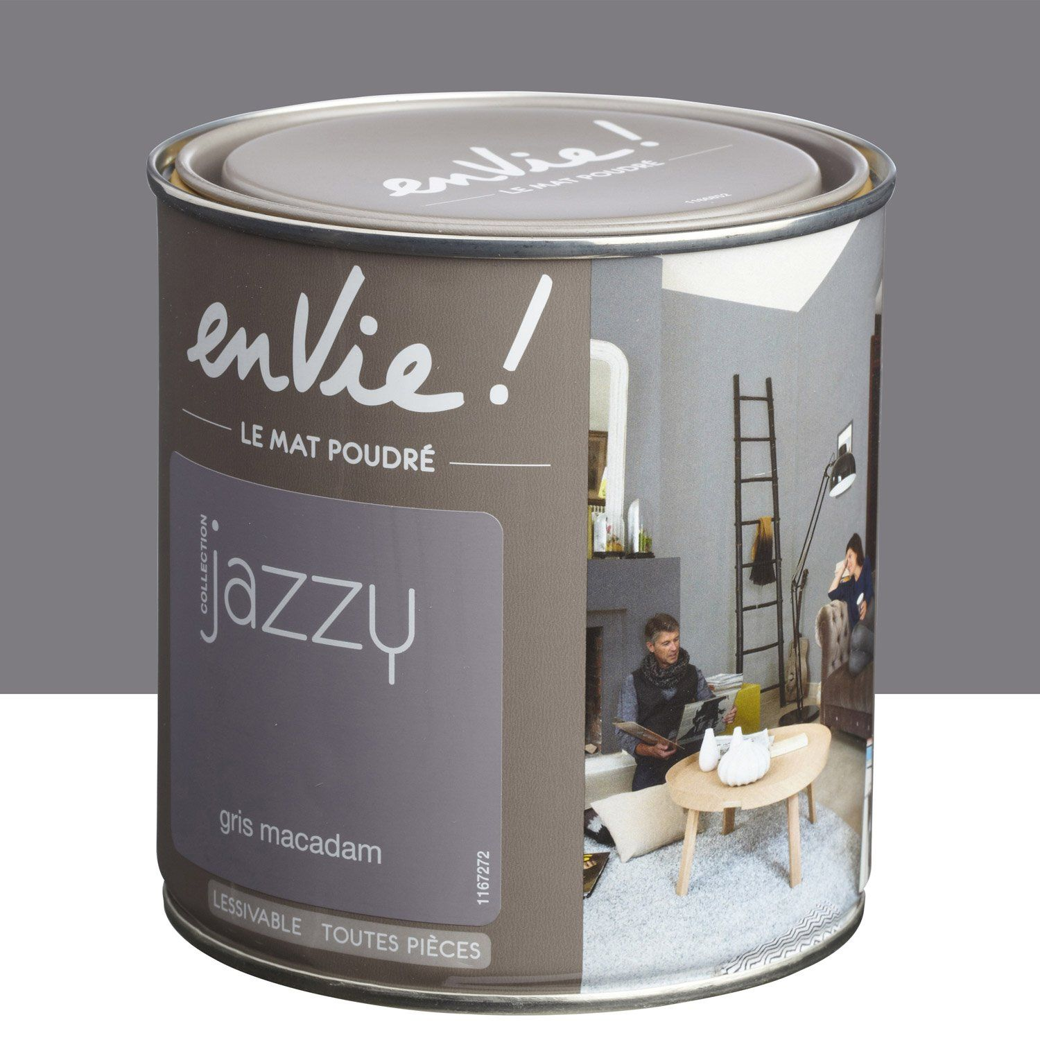 Peinture Multisupports Envie Collection Jazzy Luxens Gris Macadam