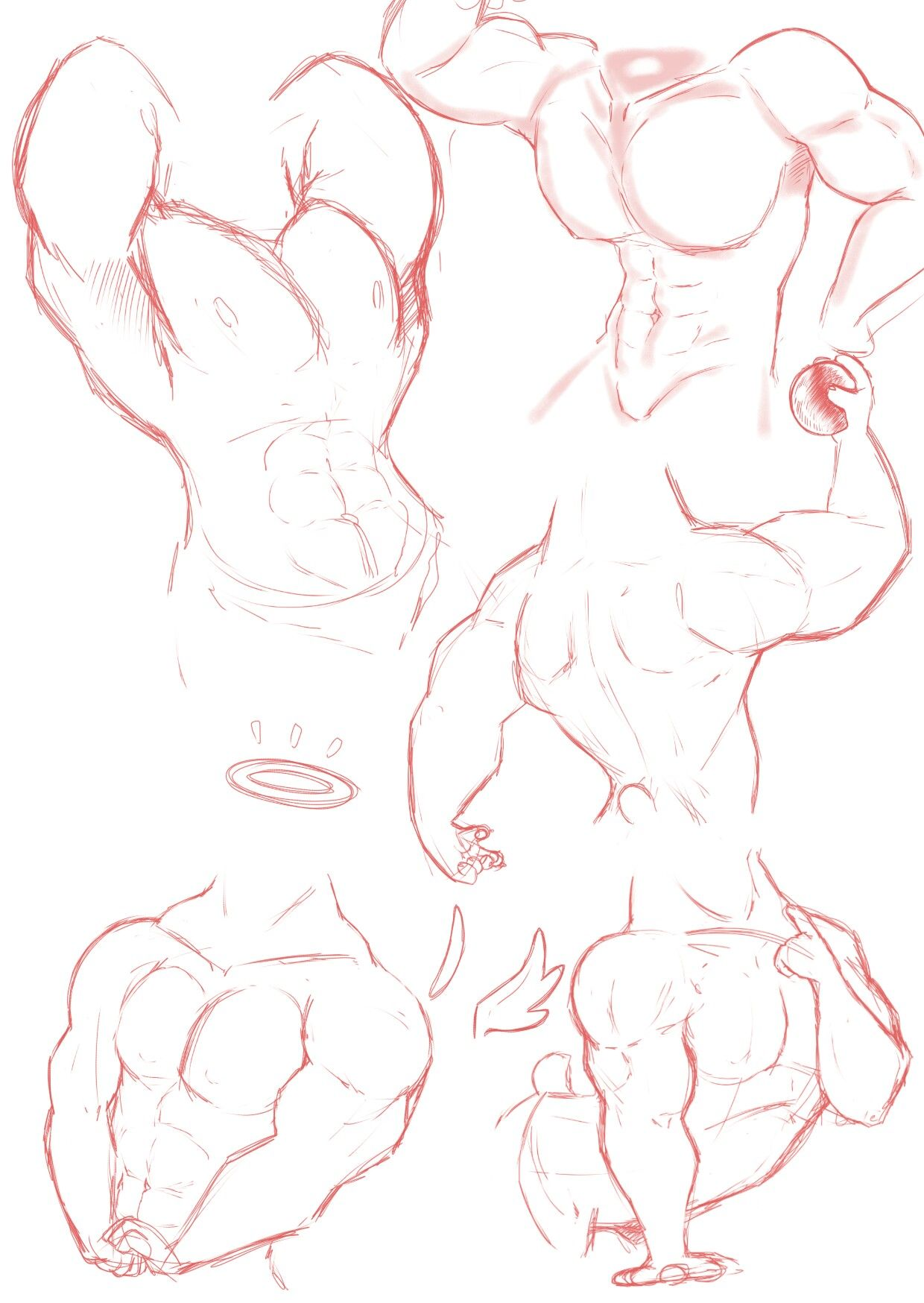 Muscular Body Practice By Hehky Body Reference Drawing Art Reference Drawing Reference