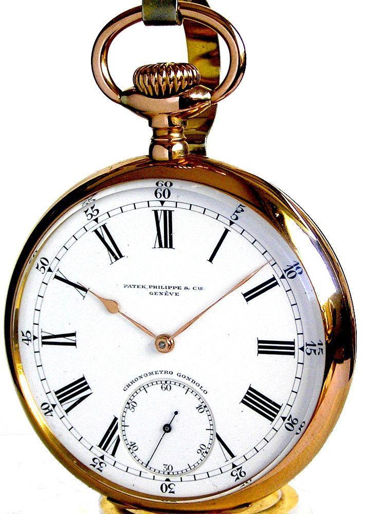470c15b511c Patek Phillippe Antique 18K Solid Gold 22 Size 20 Jewels Pocket Watch Circa  1912