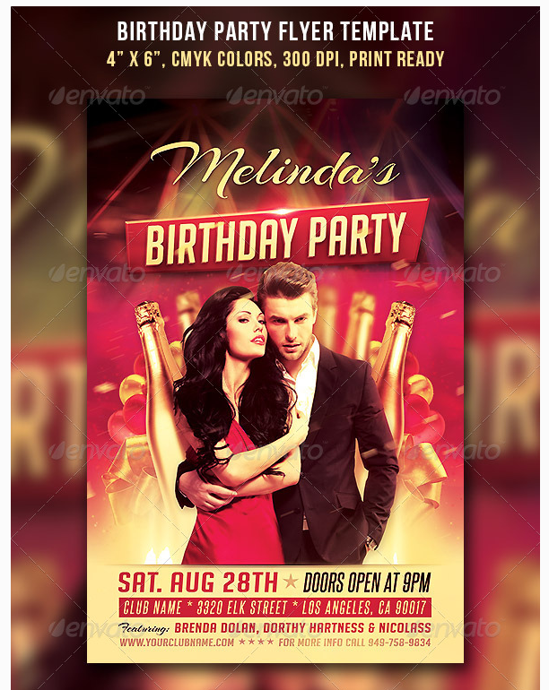 birthday party flyer template party flyer templates for clubs