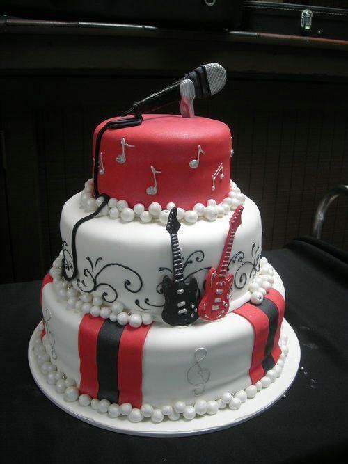 Coolest Birthday Cakes Singer Birthday Cake Ideas ...