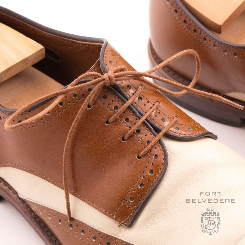Brown Shoelaces Round Luxury Waxed Cotton Dress Shoe Laces by Fort Belvedere. CLASS!
