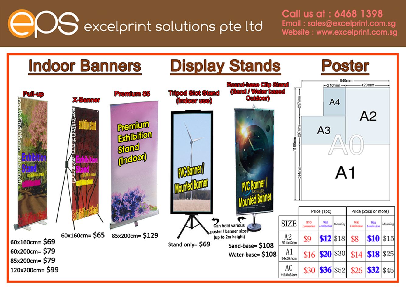 Poster Or Banner Size In 2020 Banner Sizes Indoor Banner Best Banner Design