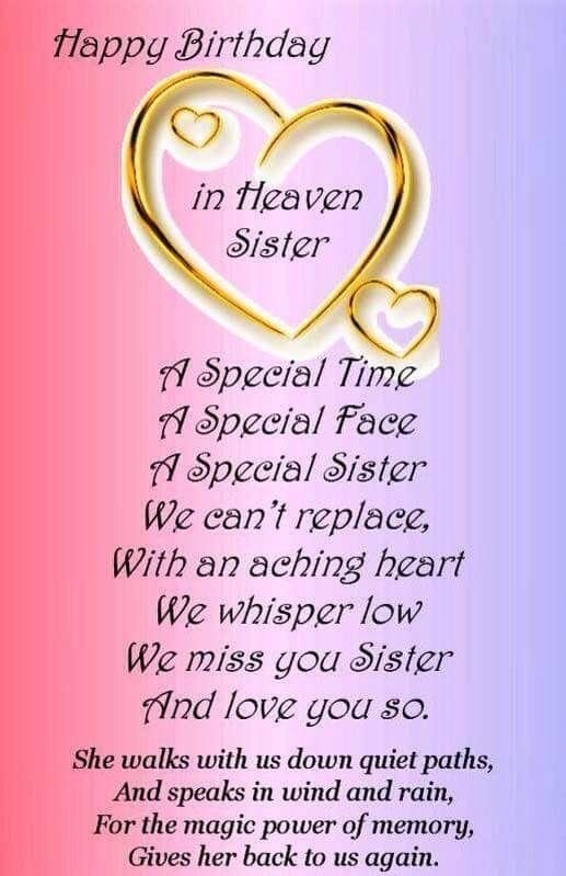 Happy Birthday Sister In Heaven Facebook Covers Happy Birthday