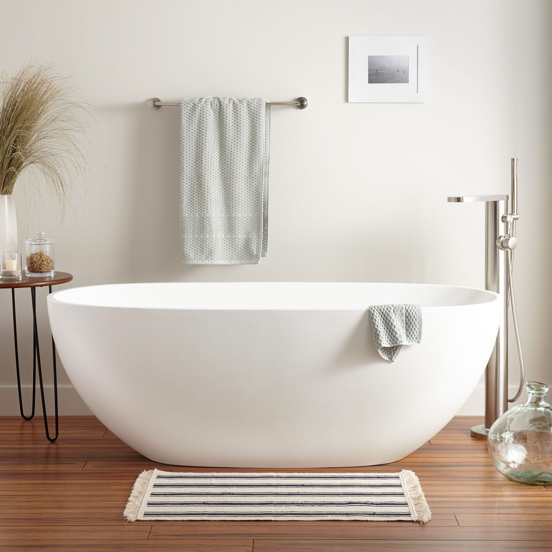 Allene Resin Freestanding Tub Gloss Finish Bathtubsforsmallbathrooms Free Standing Tub Free Standing Bath Tub Small Bathtub