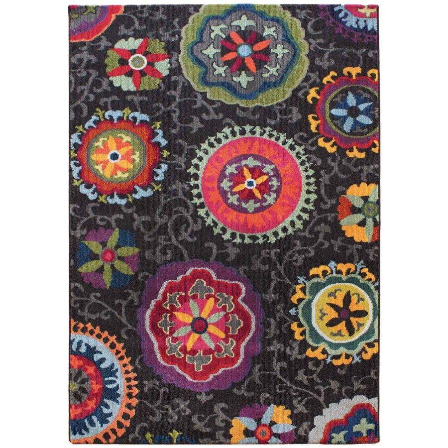 Debenhams Multi Coloured Dark Patchwork Colores Rug At Mobile