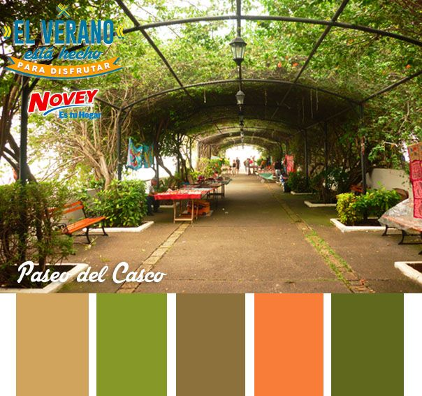 Si piensan en un verano verde, piensen en el paseo del Casco. Si quieren que les asesoremos sobre los colores de su hogar, ¡Les esperamos en Novey!