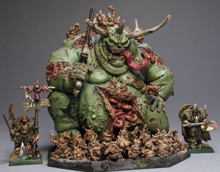 Warhammer 40k//age of Sigmar-démons de Nurgle Great souillé Un peint