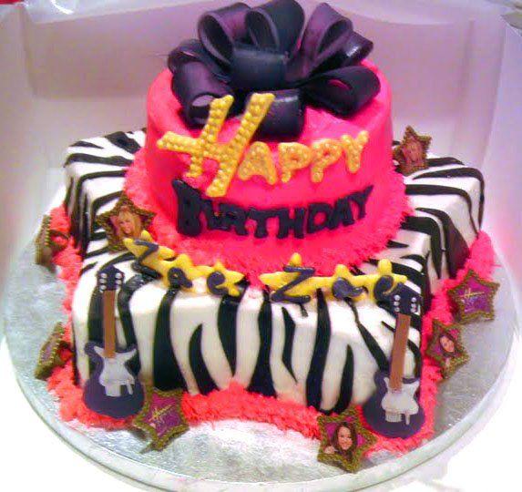 Enjoyable Hannah Montana Birthday Amazing Cakes Cake Pops Cake Birthday Cards Printable Inklcafe Filternl