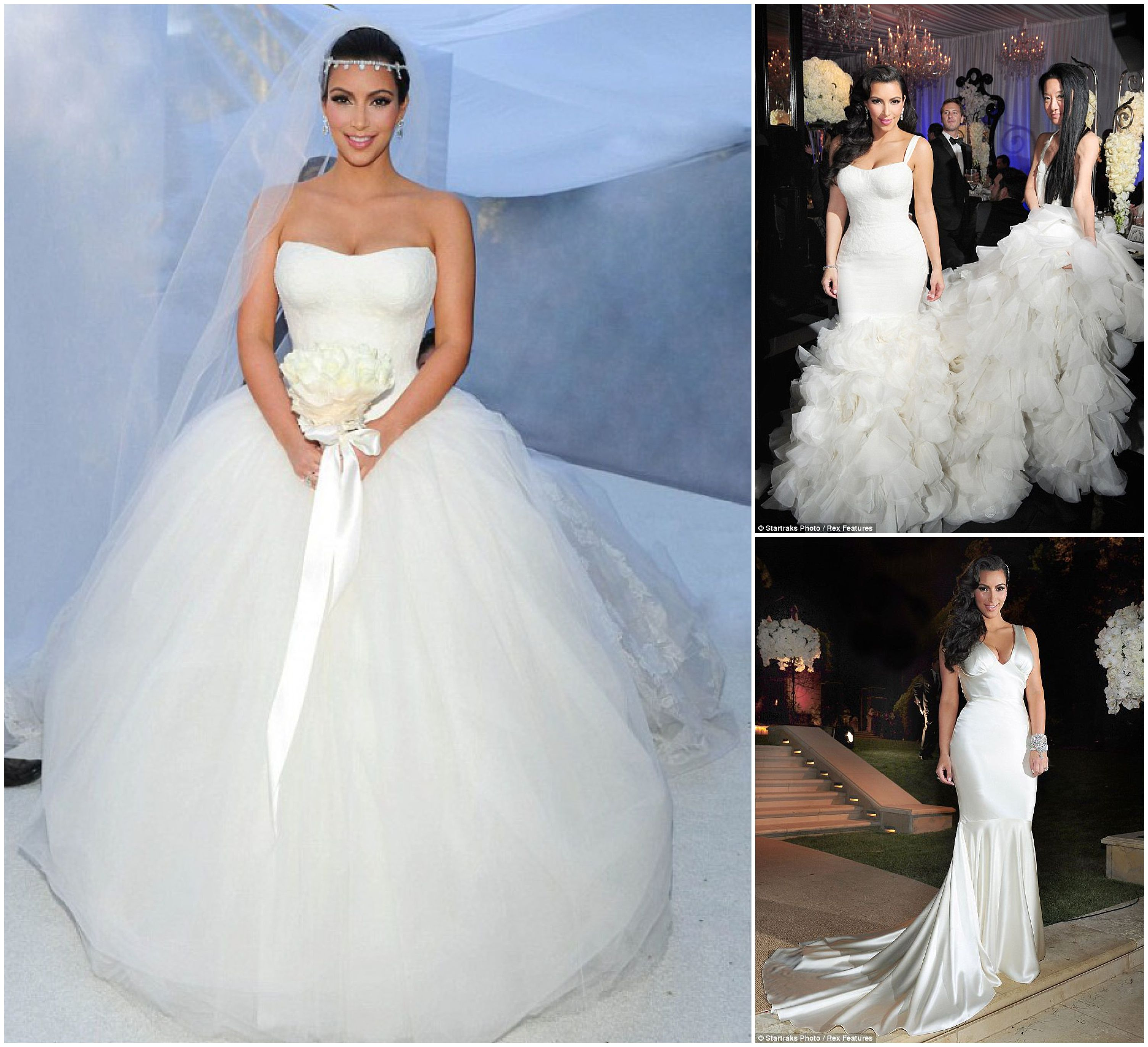Wedding news kim kardashian39s wedding dresses kim for Kim kardashian s wedding dress