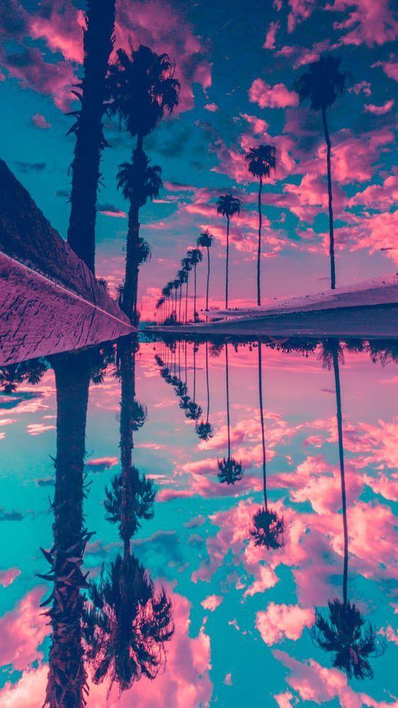 Miami Sunset iPhone Wallpaper