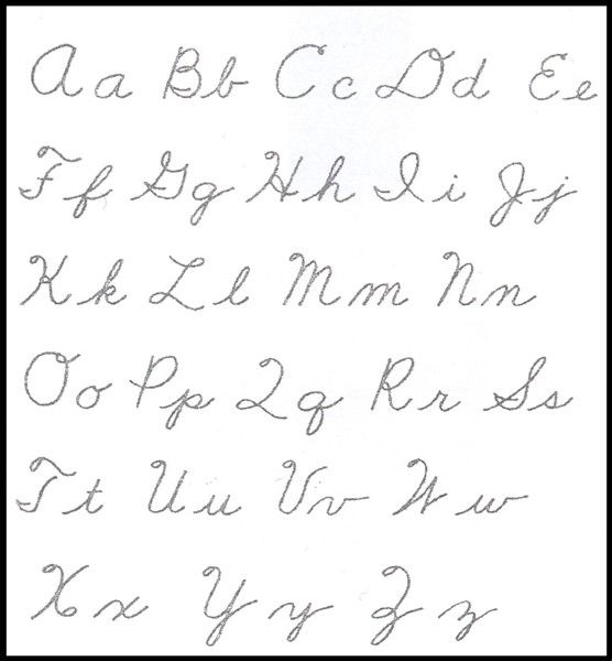Print Cursive Letters  Printable Cursive Alphabet  Food Dishes