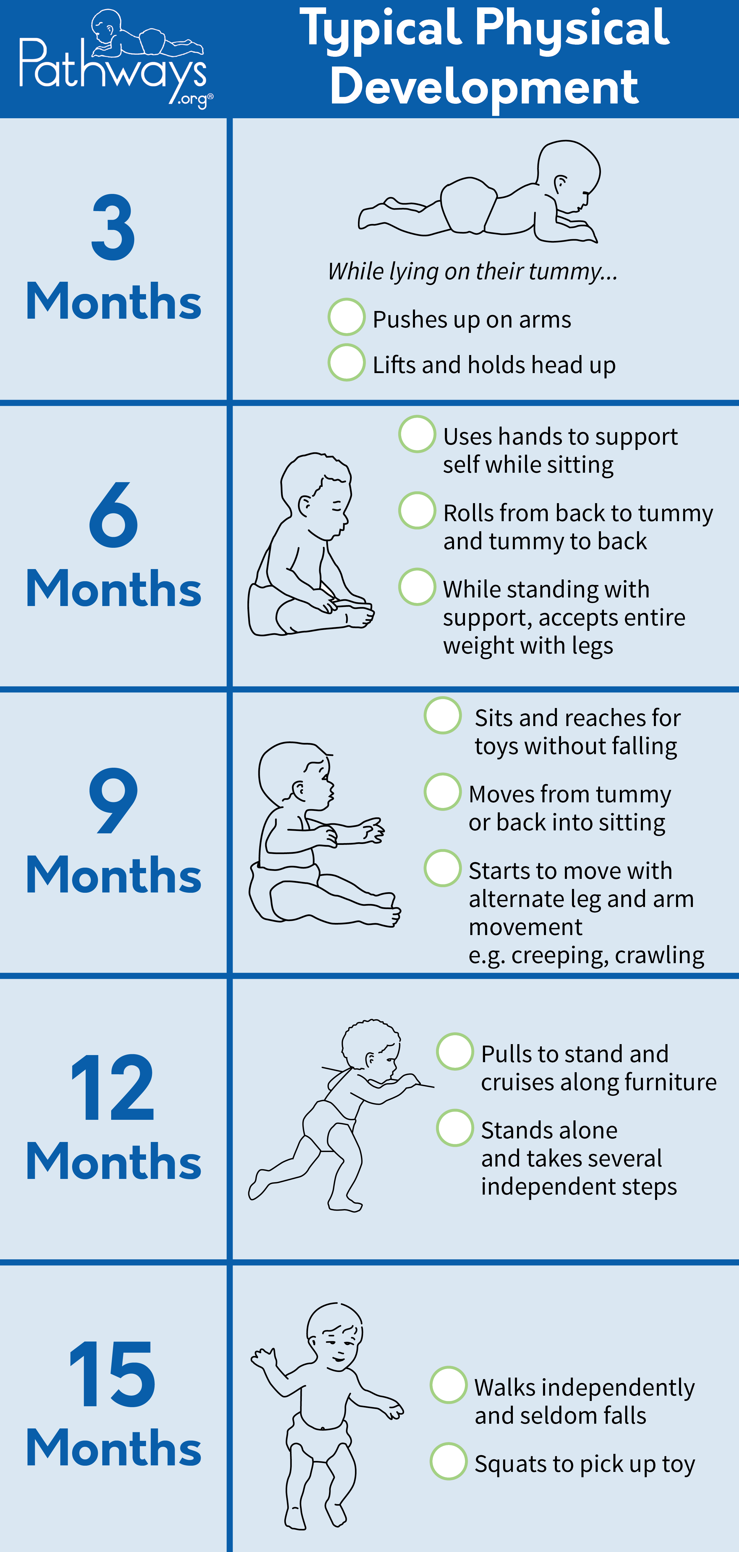 Assure The Best For Baby S Physcial Development Brochure Pathways Org Physical Development Child Development Milestones Child Development Stages