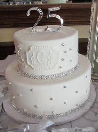 Our Beautiful 25th Anniversary Cake 25th Wedding Anniversary