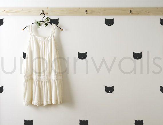 Sticker autocollant Sticker vinyle chats par urbanwalls sur Etsy