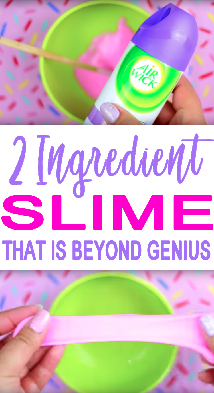 Diy 2 Ingredient Slime Recipe How To Make Homemade No Borax Slime Recipe Diy Slime Recipe Slime For Kids Make Slime For Kids
