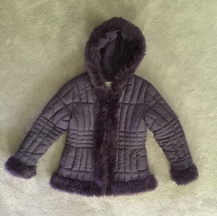 Arizona Puffer Jacket Winter Coat Faux Fur Trim Purple Girl's Size M/M 10/12 #Arizona #PufferJacket #EverydayDressy