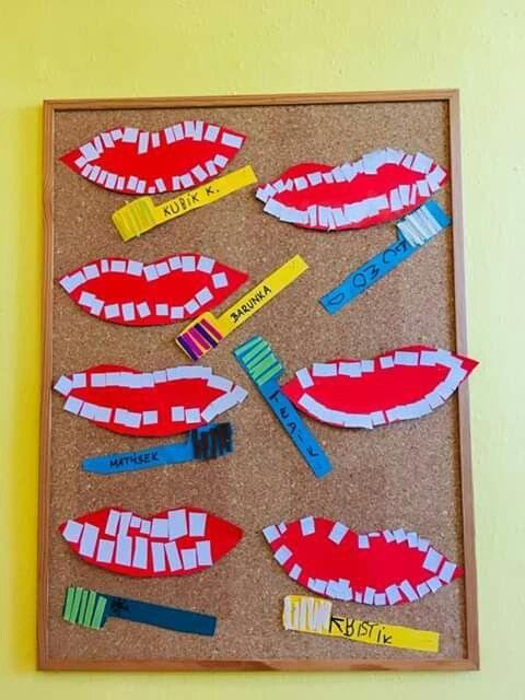 Zahngesundheit Kunst   – Time 4 February in Kindergarten