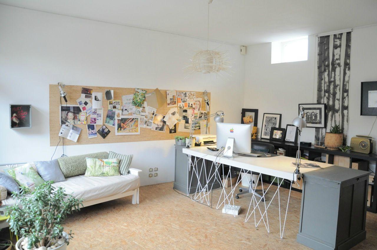 Bureau design sol osb maison pour prise de vue à louer près de
