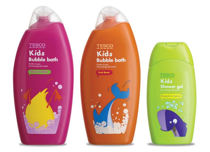 Tesco Kid S Bubble Bath Kids Bubble Bath Kids Packaging Kids