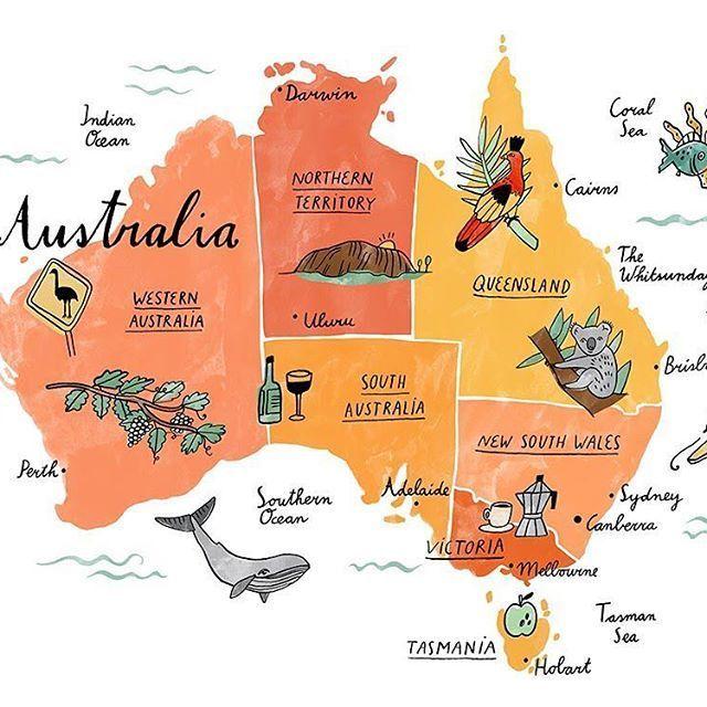 Happy Australia Day This Is A Map For Waitrose Fo Australia