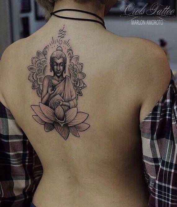 sak kyant buddha mandala tattoo tattoos pinterest buddha rh pinterest com tibetan buddhist mandala tattoo buddhist lotus mandala tattoo meaning