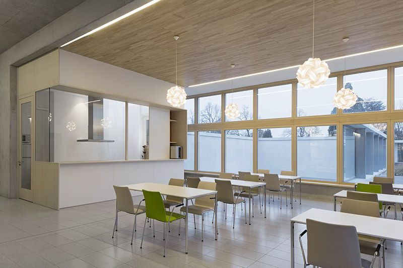 Dining Area Harmoniously Designed With Prime Stacking Chairs